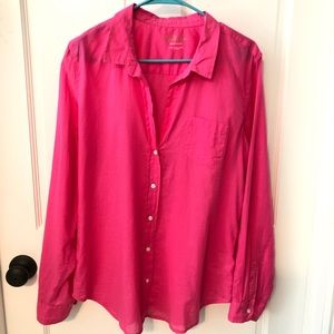 Lily Pulitzer Hot Pink Long sleeve Button Down